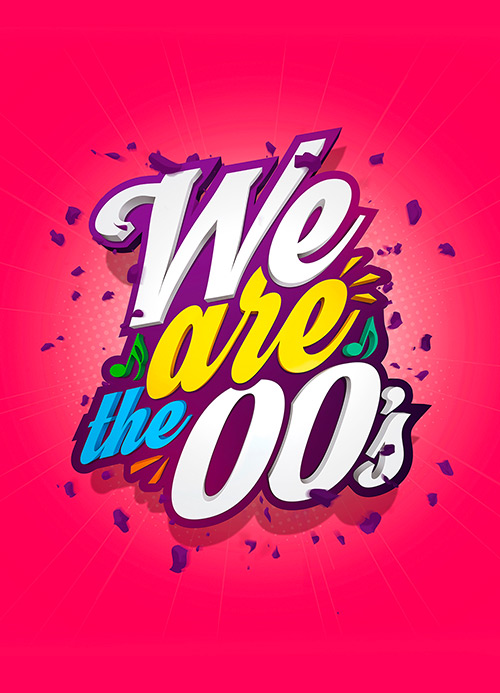 We are the 00's, artwork & logotype by slize