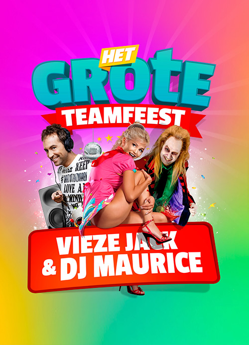 Het Grote Teamfeest, partydesign by slize