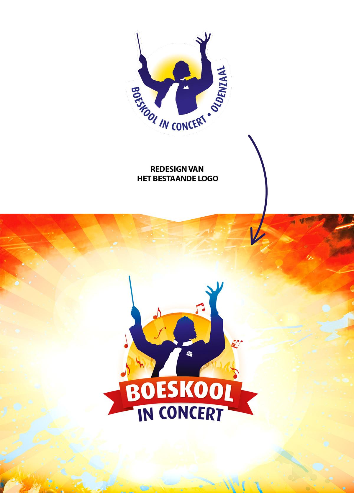 Nieuw logo voor boeskool in concert oldenzaal, Boeskool design deel #1