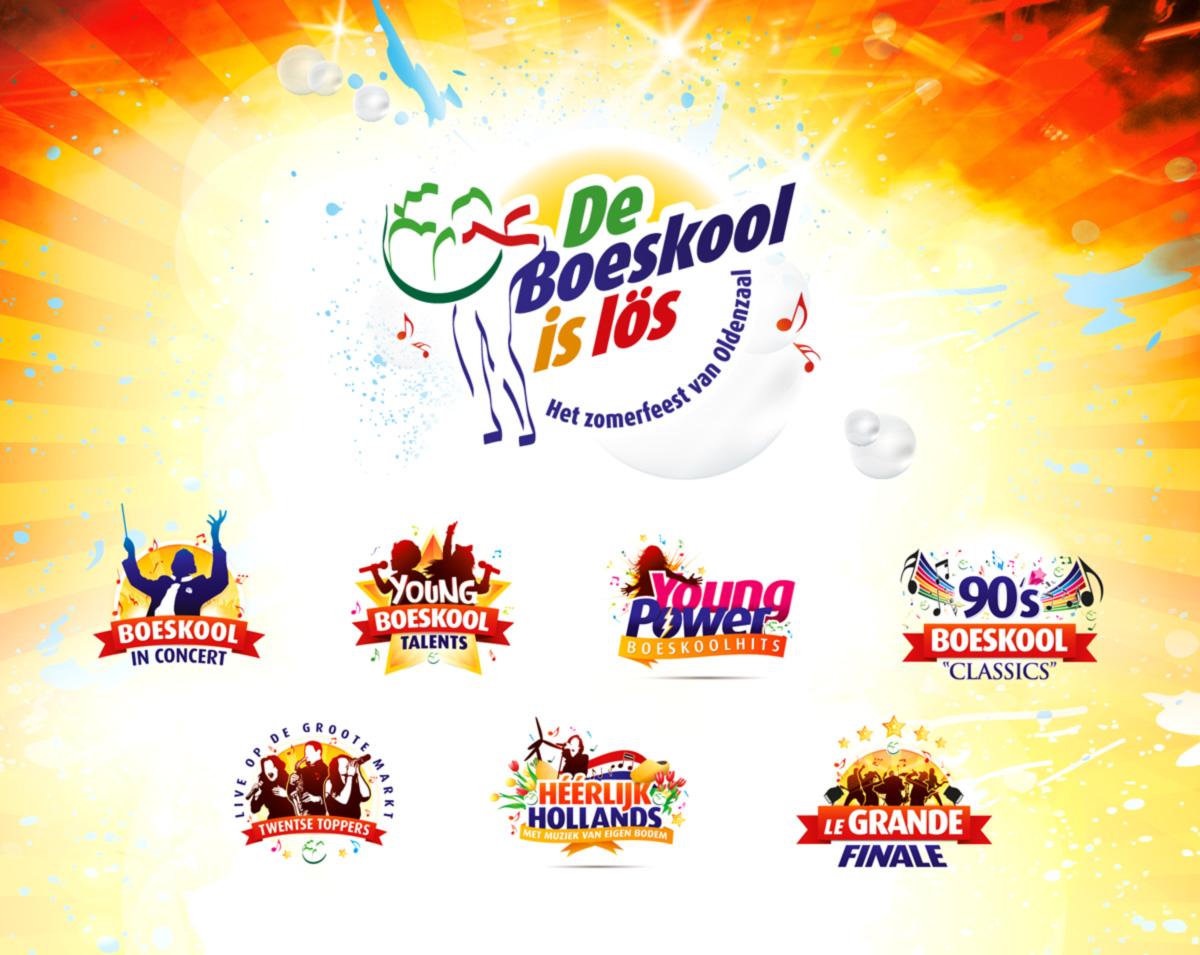 Slize: logo design - creatie van de Boeskool Family logos
